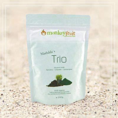 Mathilda´s Trio Tabs mit Spirulina, Chlorella & Gerstengras von MonkeyFruit, 800 Tabletten, Smoothie in a tablet (by VivaNutria)