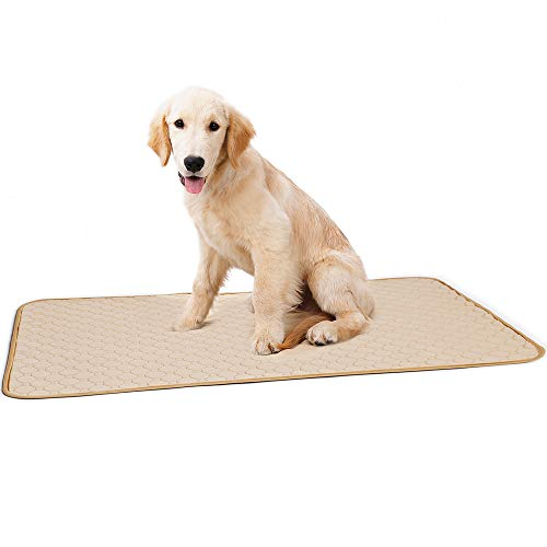 Large Pee Pads for Dog (2-Pack) Washable Puppy Wee Wee Pad Waterproof Potty Training Eco-Friendly Whelping Pet Urine Mats