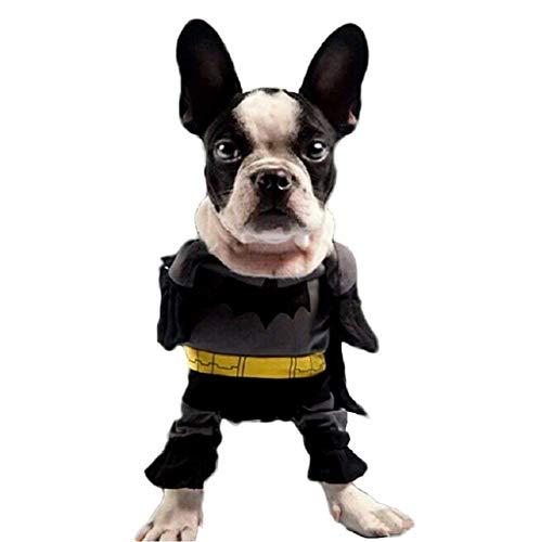 EVRYLON Costume Batman per Animali Pipistrello Cane XS Travestimento Halloween Cosplay Ottimo Come Regalo per Natale o Compleanno