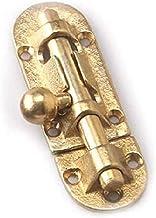 Xin schuifgrendel Messing dik antiek deurslot Houten deurslot Home Gate Veiligheidssluiting Hasplock Home Security Latch L...