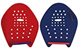 Strokemakers by Speedshop Int'l Swimming Hand Paddles for Swim Training - The Original Stroke Technique Paddle (Size 1, Red/Blue)