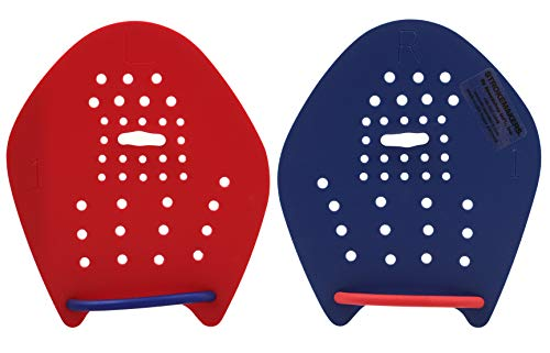Strokemakers Swimming Training Paddles (Size 1, Red/Blue)