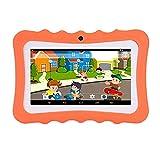 Explopur Tabletas para niños,Tableta para niños Pantalla de visualización de 7 Pulgadas Cámara Dual Android Versión de WiFi de Cuatro núcleos Máquina de Aprendizaje Educativo temprano Regalo para