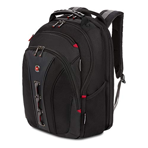 Wenger 600631 LEGACY 16 Inch Laptop Backpack, Airport-Friendly Backpack with Case-Stabilising Platform in Black {21 Litre}