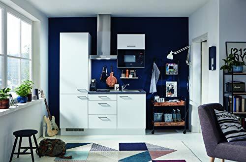 NOBILIA Küchenzeile STUDIOLINE | Lack Weiß Matt | Inkl. E-Geräte und Spüle | Lieferzeit 72 Std.