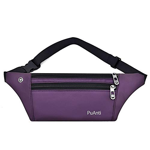ZKDY Outdoor Waterclosed Sports Fitness Multifunzionale Sked Waist Pack,Violetta.