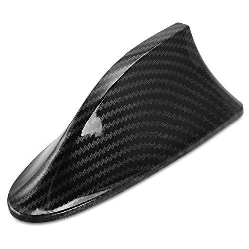 KDLLK Antena de Aleta de tiburón,para Volkswagen Golf Bora Polo Golf Passat Skoda Octavia A5 Fabia Seat Ibiza Leon Coche Fibra de Carbono Antena de Aleta de tiburón
