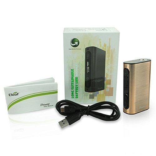 Auténtico Eleaf IPOWER 80W Cigarrillo electrónico MOD 5000 mAh (Bronce) Sin Tabaco y Sin Nicotina