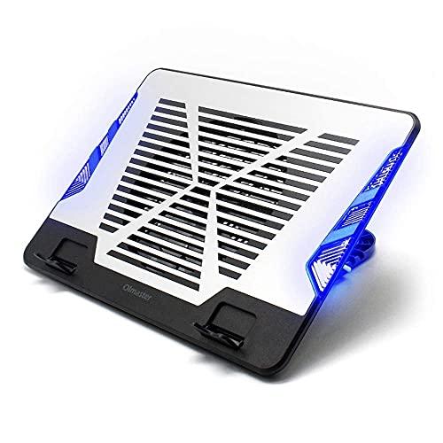KCGNBQING Almohadilla de enfriamiento para portátiles: una malla de ABS y METAL FUERTE y Duradero: se adapta fácilmente a su regazo o en cualquier superficie plana: mantiene su computadora portátil fr