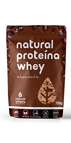 Whey Protein Schokolade Natural Athlete, 80% isoliertes Molkenprotein aus Kuhmilch aus Weidehaltung, Glutenfrei, Zuckerfrei, 750g