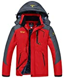 donhobo Men's Fleece Jacket Winter Waterproof Warm Ski Jackets Windproof Coat with Zip Pockets...