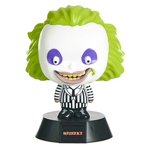Beetlejuice 3D Icon Light BDP | Officially Licensed from The 1988 American Horror Film | Great Night Light or Desk Lamp | Perfect Gift Idea for Horror and Halloween Fans | Battery Powered 2X AAA