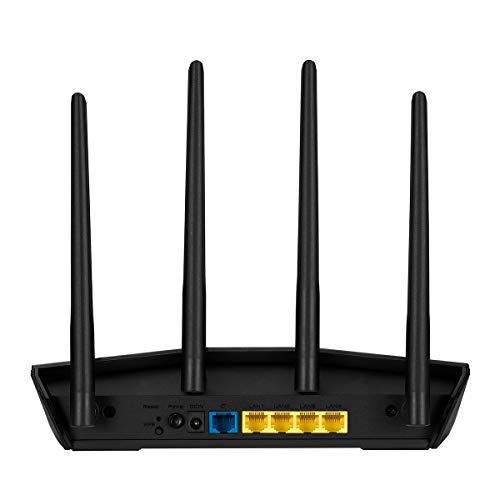 Asus RT-AX55 Home Office Router (Ai Mesh WLAN System, WiFi 6 AX1800, Gigabit, 1.5 GHz QC CPU, AiProtection)