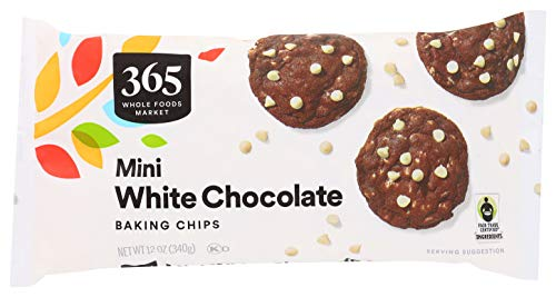 365 by Whole Foods Market, Baking Chips, Mini White Chocolate, 12 Ounce
