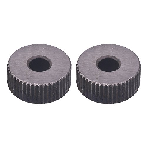 2 ruedas de moleteado lineales de 1,2 mm antideslizantes para torno de metal.