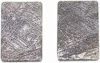 Meteorito de hierro (Muonionalusta) 10 x 15 x 1,5 mm.