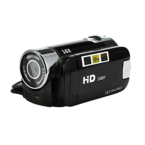 mächtig HD-Camcorder, Camcorder Ultra HD-Kamera (16 Millionen Pixel, Full HD, 16-facher optischer Zoom, 2,7…