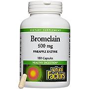 Natural Factors, Bromelain 500Mg, 180 Capsules