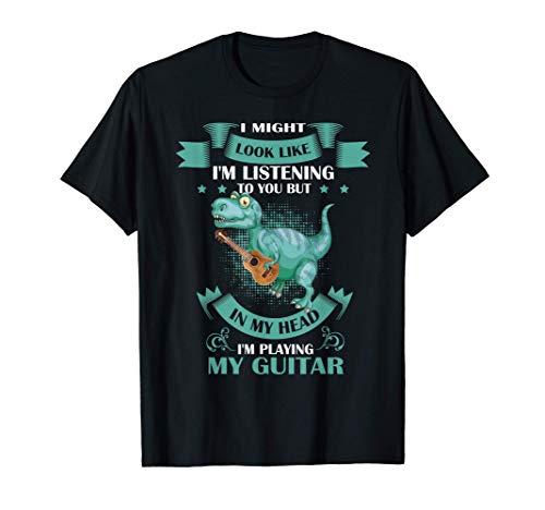 Dinosaurio T Rex tocando la guitarra acústica Camiseta