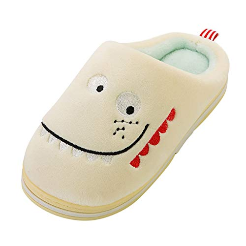 Check Out This Toddler Baby Boys Girls Kids Funny Fleece Lined Clog Indoor Plush Slipper Winter Mule...