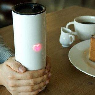 DecentGadget Touch Temperature Sensing Cup Stainless Steel Tea/Coffee Cup With LED Display For Christmas Valentine's Gift// DecentGadget tocco Temperatura Sensing Coppa del tè dell'acciaio inossidabile / tazza di caffè con display a LED per il regalo di San Valentino di Natale