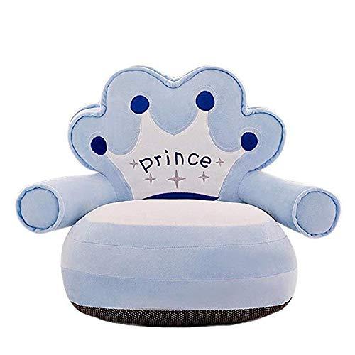 Kleinkinder Sofas Prinzessin Baby Sofa Stuhl Weiches Kissen Kleinkind Sessel Kinder Couch Bett Rückenlehne Stuhl Baby Plüschtiere Kindersitze Möbel Kindersofas ( Farbe : Himmelblau , Größe : 50x50cm )