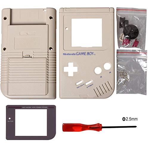 Ersatzgehäuse Shell Case Cover für Gameboy GB Console (Grau)