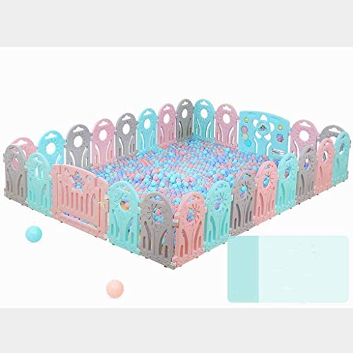 Best Bargain DSWDA Playpens Children's Fence Indoor Baby Child Safety Fence Baby Family Crawling Mat...