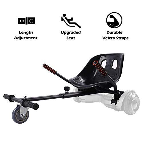 QXT Einstellbare Hoverkart,Kart & Ersatzteile, Verstellbarer Gokart Buggy Attachment Self, Balancing Scooter Kompatibel mit 6,5, 8 und 10 Zoll