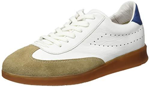 LLOYD Herren Low-Top Sneaker Babylon, Männer Sneaker,VARIOFOOTBED, sportschuh maennliche maskulin Men,BEIGE/White/ROYAL,10.5 UK / 45 EU