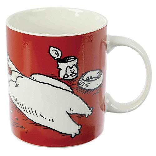 Simon's Cat Tasse I Woke Up Like This - weiß, Bedruckt, 100% Porzellan, in Geschenkverpackung.