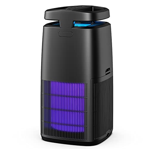 Air Purifier KioudI by Nessbase HEPA Air Purifiers for Home with Timer Settings and Adjustable Wind Speeds Portable Air Purifier Air Cleaner with Fragrance Sponge for Pollen, Smoke, Pet Hair for Home, Bedroom and Desktop