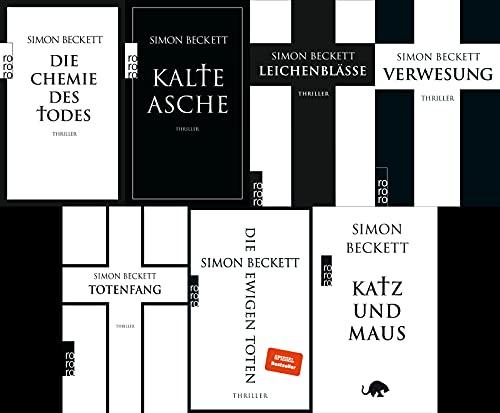 Die David Hunter Serie von Simon Beckett in 7 Bänden + 1 exklusives Postkartenset