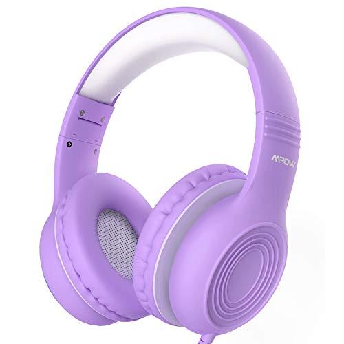 Kinder Kopfhörer,Mpow CH6S Kopfhörer Kinder mit 85dB Lautstärkeregler Schalter Over-Ear Ohrenschützer Faltbar Lebensmittelqualität Material Mikrofon für Smartphone,Tablet,Computer[Weihnachtsgeschenk]