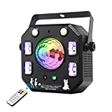 Disco Light Party Light, Eyeshot Led DJ Lights 4 in 1 with Magic Ball, Led Patterns Strobe Light and Purple UV Light, Great for stage & dj lighting, Disco Club Party Church Lights