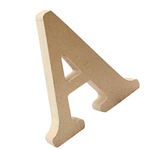 Homyl Lettres Bois Mural Alphabet Letters Sign de A à Z Décoration Rustique Nordique pour Intérieur Extérieur - A