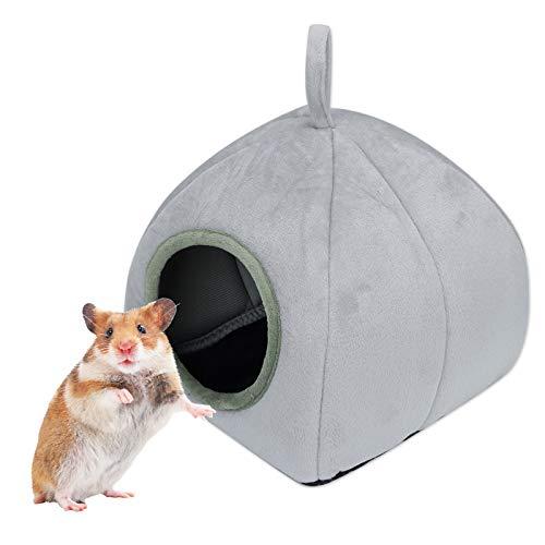 Casa de cerdo de India clida jaula para cama, hmster Bunny House Bed Hedgehog Chinchilla y cava