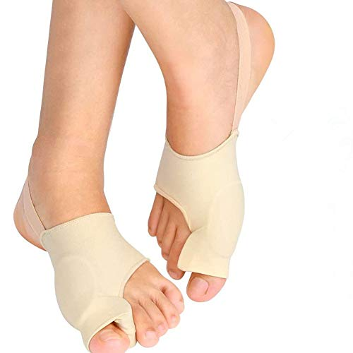 Bunion Corrector Toe Straightener with Built-in Gel Pads, Orthopedic Big Toe Separators Bunion Relief Sleeve, 1 Pair Gel Bunion Pads Hallux Valgus Corrector Bunion Protector for Day and Night Time