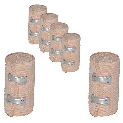 6 Stück all-around24 Elastikbandage Bandage Sportbandage Stützbandage Sportbinde