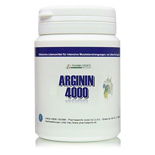 Arginin 4000 - 120 Tabletten a 1000mg reines L-Arginin HCL Vegan