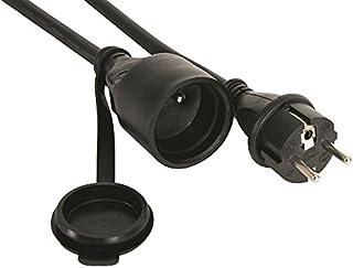 PEREL - EC01.5R15STB 1,5 m Gummi-Verlängerung Kabel – Schwarz 176596