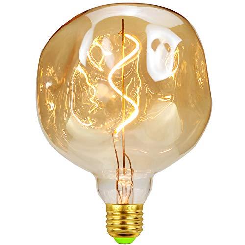 Lampadine LED Edsion Vintage 4W Dimmerabile 220 / 240V Lampadine decorative speciali E27 Vetro ambrato Calore bagliore (G125 Stone)