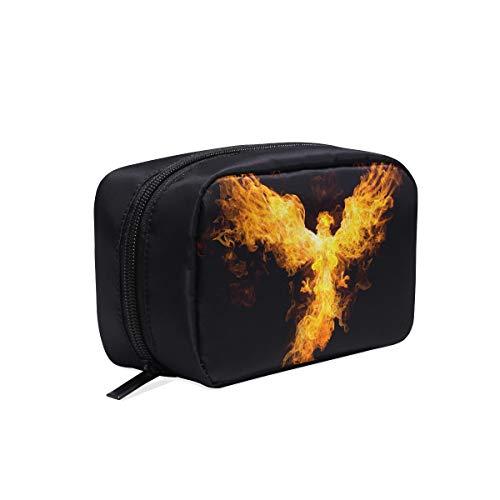 Sac de mode pour hommes Eagle Fire sur le maquillage noir brosses sac sac de toilette personnalisé sac de voyage en plein air sac à cosmétiques sacs cas multifonction sac d'école de mode