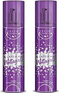 LAYER'R WOTTAGIRL CLASSIC HEAVEN PACK OF 2 COMBO SET PERFUMES OFFERS FOR WOMEN GIRLS SPRAY