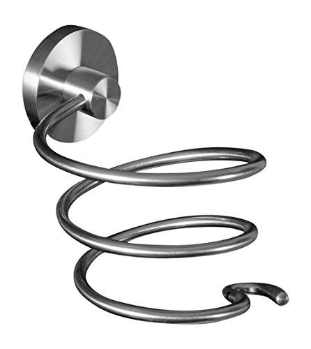 Ambrosya® | Exklusiver Haartrocknerhalter aus Edelstahl | Bad Badezimmer Fön Fönhalter Fönhalterung Haartrockner Haartrocknerhalterung Halter Halterung WC (Edelstahl (Gebürstet))