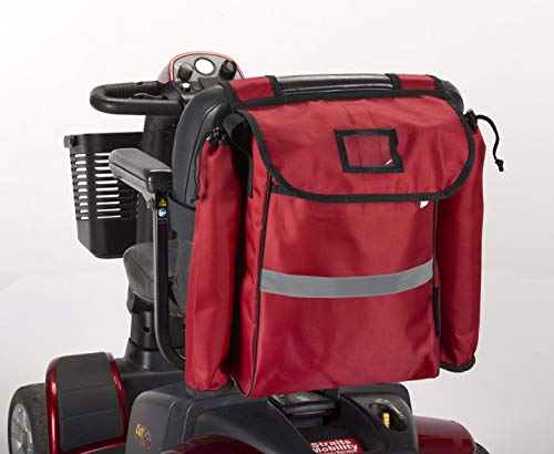 Mobility Scooter Crutch/Walking Stick Bag Red