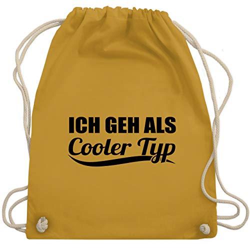 Shirtracer Karneval & Fasching - Ich geh als cooler Typ - schwarz - Unisize - Senfgelb - Fun - WM110 - Turnbeutel und Stoffbeutel aus Baumwolle