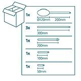 EGLO Kabelkanal Extention, Kabelführung aus Stahl, Länge: 320 bis 1570 mm, Farbe: chrom - 6