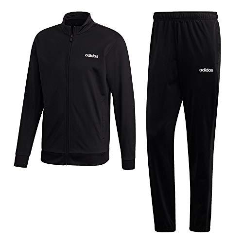 adidas Herren Tracksuit MTS LIN TRIC, top:black bottom:black, M, FM0616