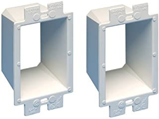 Arlington BE1-2 Electrical Outlet Box Extender, 1-Gang, White, 2-Pack